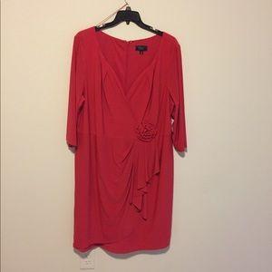 Dress barn plus size red dress